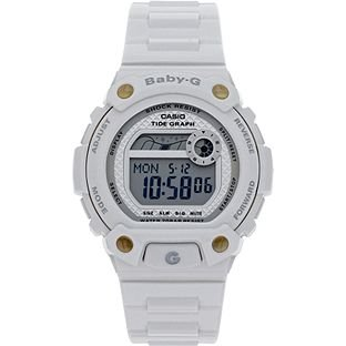 Baby-G by Casio Ladies' White World Time Strap Watch With Grey Dial