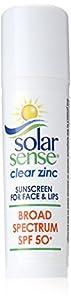 Solar Sense Clear Zinc SPF 50 Carded Stick, 0.45 Ounces Unit