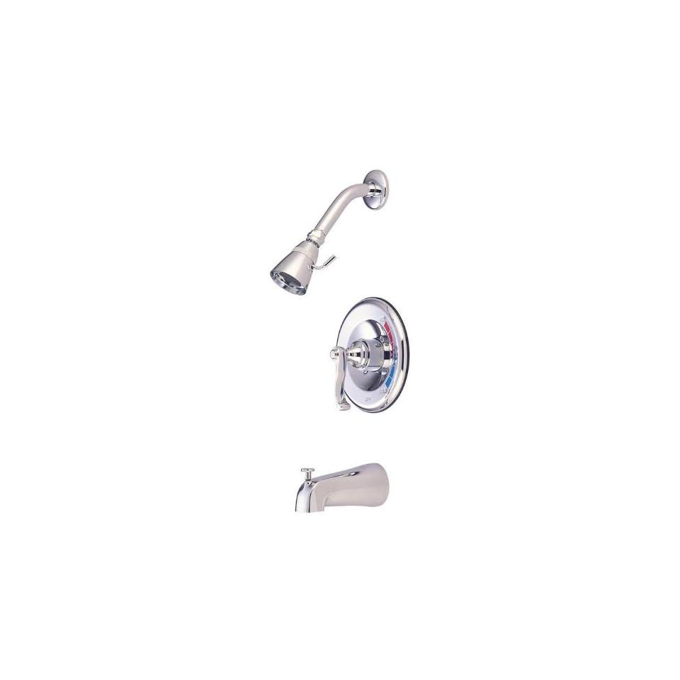 Elements of Design EB8631FL Atlanta Single Handle Tub and Shower Faucet, Polished Chrome