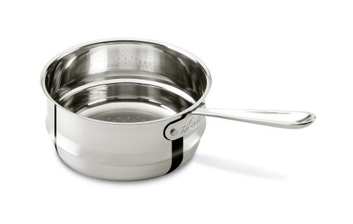 All-Clad 4703-ST Stainless Steel Dishwasher Safe Universal Steamer Insert Cookware, 3-Quart, Silver