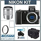 Nikon 1 V2 Camera Body, Black - Bundle - with Nikon 10-100mm VR Silver Lens, 16GB SDHC Memory Card, 55mm UV Filter, Mack 3 Year Extended Warranty, Camera Case