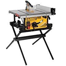 DEWALT DWE7490X 10-Inch Job Site Table Saw with Scissor Stand