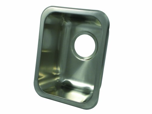 Opella 13200.046 Rectangle Bar Sink, Brushed Stainless Steel