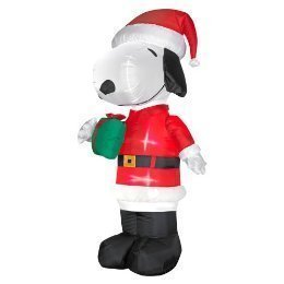 Christmas 5' Snoopy Santa Claus  Present Holiday