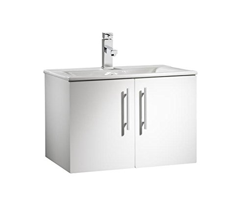 Beautiful Roper Rhodes VIVA Wall Mounted Bathroom Vanity Unit With Sink In an Elegant White Finish