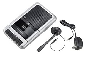 Onn Cassette Recorder External Microphone Included