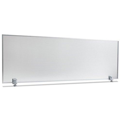 Alera PP4718 Polycarbonate Privacy Panel, 47w x 18h, Silver (Desk Privacy Panel compare prices)