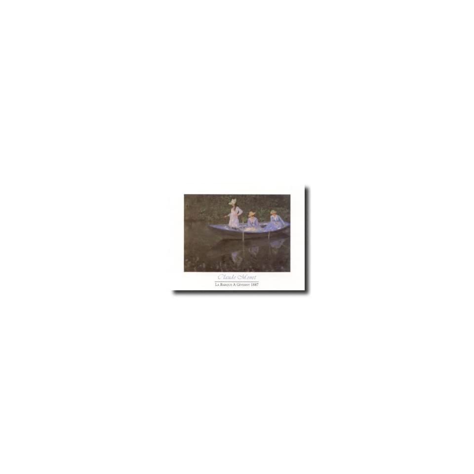 Art Prints Inc Claude Monet Girl Woman Lake Boat Home