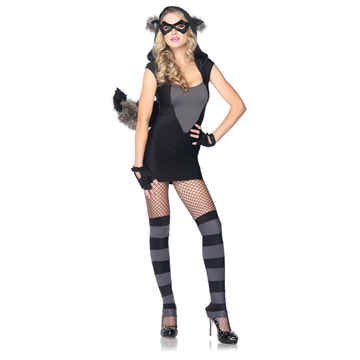 Risky Raccoon Medium/Large Adult Costume Size 10-14