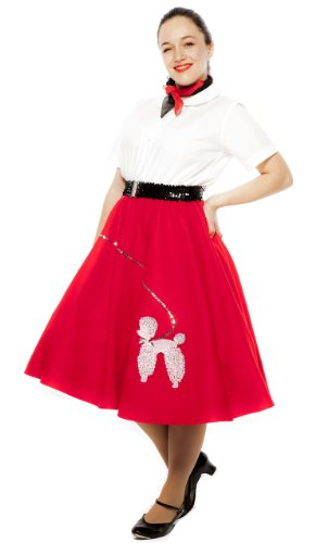 50s Felt Poodle Skirt in Retro Colors - size Adult Medium / Large by Hey Viv !