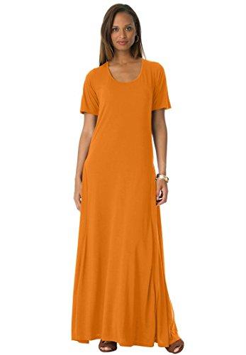 Jessica London Women's Plus Size Jessica London Tee Shirt Maxi Dress