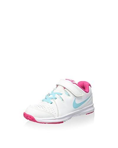 Nike Zapatillas Jr Vapor Court Psv Blanco / Azul Celeste