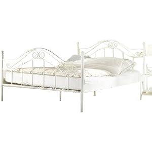 moebel direkt online metallbett wei liegefl che 140x200. Black Bedroom Furniture Sets. Home Design Ideas