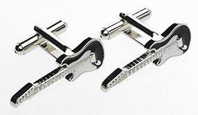 Tie Studio: Guitar Cuff Links - Black/White/Silver