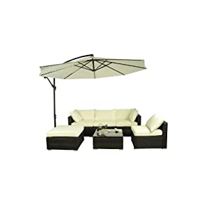 in085: $Buy 6 Pieces Outdoor Rattan Sofa Wicker Sectional Patio ...