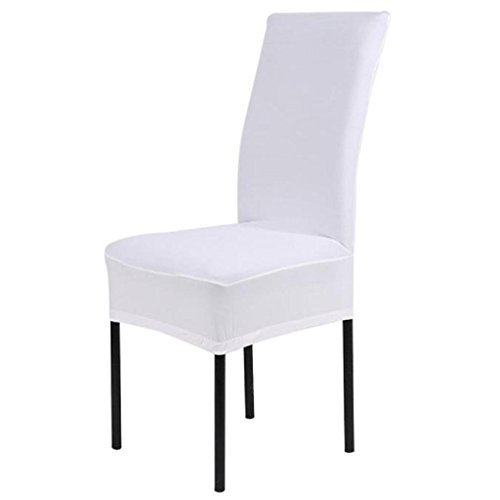 VIASA 1PC Stretch Banquet Slipcovers Dining Room Wedding Party Short Chair Covers (White)