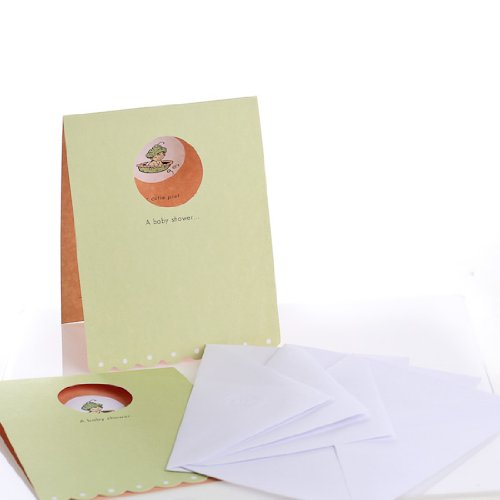 Cutie Pie Baby Shower Invitation Cards and Envelopes - Package of 30 Cards and 30 Envelopes