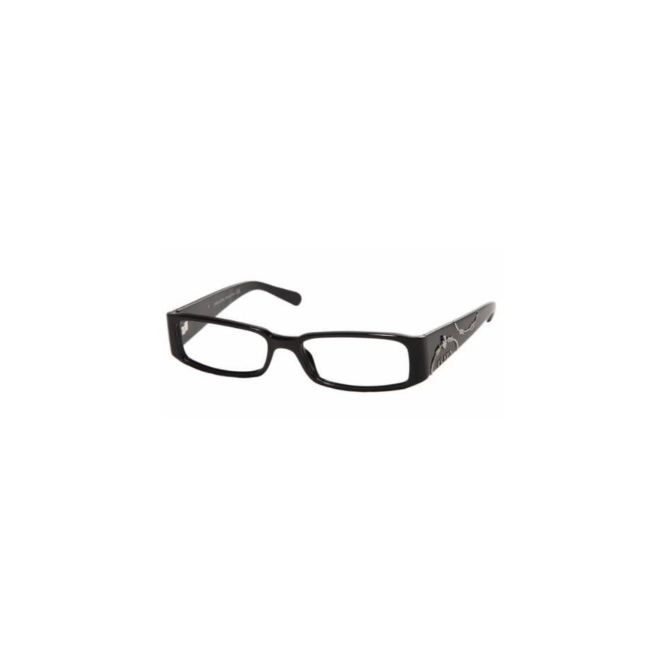 b15874b06c61 Prada Prescription Eyeglasses Frame Womens VPR07I 1AB101 Black on ...