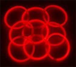 """8"""" Lumistick Glowsticks Glow Stick Bracelets RED (Tube of 100)"""