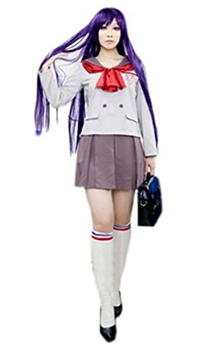 Long Sleeve Coffee School Uniform Costume Dress M/L/XL Size