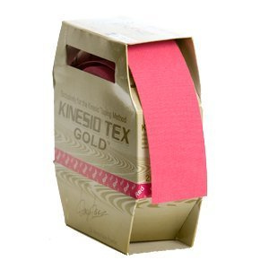 Kinesio Tape Tex Gold Wave Clinical Roll 2 inch Red (Pink) Water-Resistant by Kinesio Tape