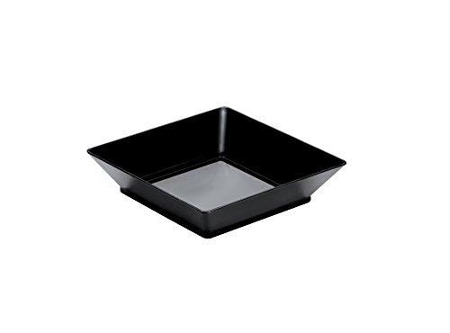 Gold Plast - Vassoio Small Plate, colore nero - 25 pz per confezione, Capienza 45 cc
