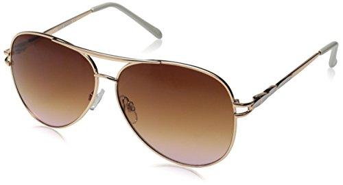 Steve Madden Womens S5657 Aviator Sunglasses