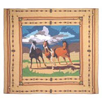 Twin Horse Comforter front-583301