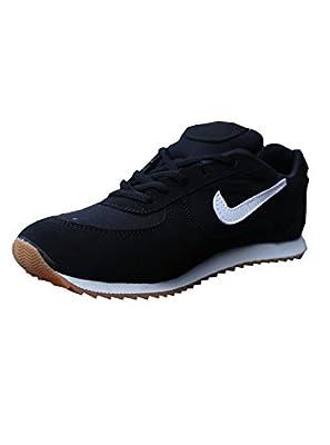 Sports Unisex PU Black Marathon Running Shoes