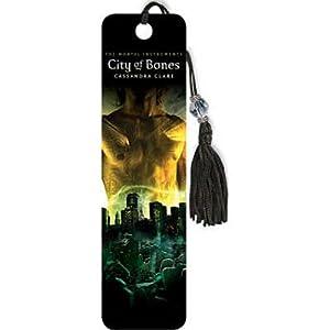 (2x6) The Mortal Instruments - City of Bones Book Cover Beaded Bookmark