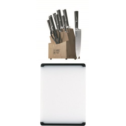 Ginsu Koga Cutlery Set And Oxo Cutting Board Bundle
