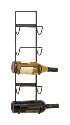 Deco 79 Metal Wall Wine Rack, 25 by 6
