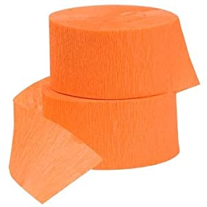 Orange Crepe Paper Streamer, 81' roll (ORANGE, 2)