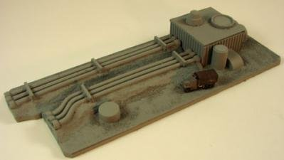 Terrain: 1/285th Scale (6mm) Middle East - Iraqi Fuel Depot (3pc)
