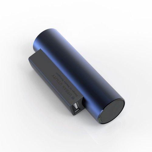 URBAN UTILITY 電池交換型モバイルバッテリー『ゼッペリン』 ダークブルー 3000mAh(UCMB-ZP1A)
