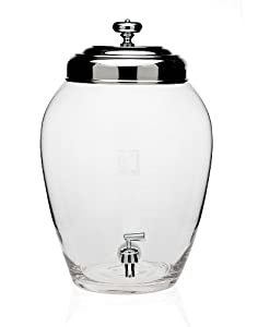 Charleston Glass Beverage Dispenser 2.5 Gallon Capacity