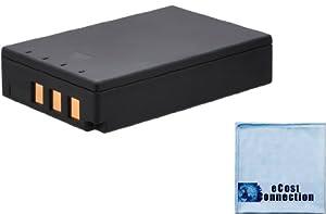 PS-BLS1 BLS-1 1800mAh Battery for Olympus Evolt E-400, E-410, E-420, E-450 E-620, PEN E-P1, E-P2, E-P3, E-PL1, E-PL3 Camera + Microfiber Cloth