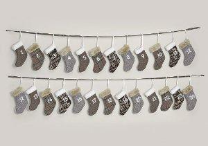 adventskalender zum bef llen aus stoff 340cm weihnachtsgirlande mit adventskalender s ckchen. Black Bedroom Furniture Sets. Home Design Ideas