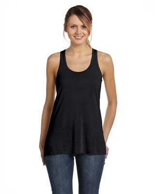Bella Canvas Ladies' Flowy Racerback Tank - BLACK - M