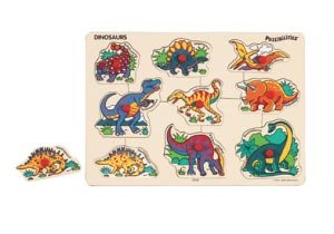 Picture of Smal World Toys Dinosaurs Puzzibilities by Smal World Toys (B000JD6BW4) (Pegged Puzzles)