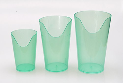 Nosey Cups 3 Pack - Set Includes 4 Oz., 8 Oz. And 12 Oz. Sizes