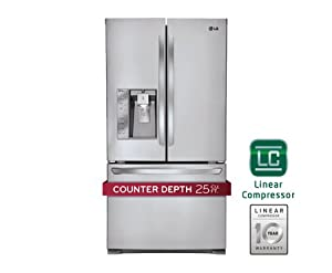 LG LFX25991ST 24.5 Cu. Ft. Counter-Depth French Door Refrigerator