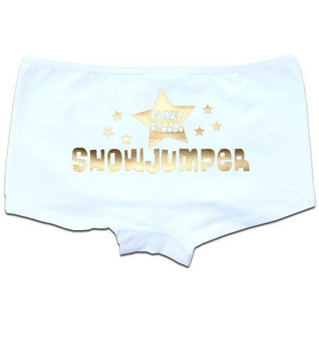 FunkyFilly® FunkyFrillies Horse 'Showjumper' Pants Knickers White