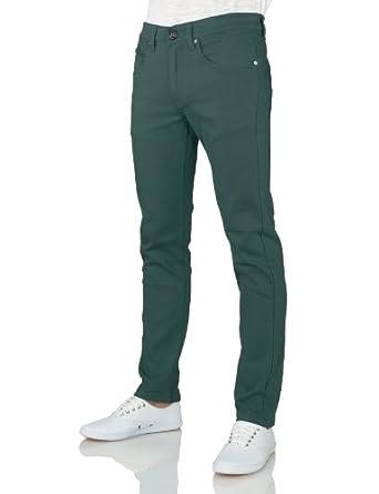 J.TOMSON Mens Basic Casual Colored Skinny Cotton Twill Pants DEVIL BLUE 28/30