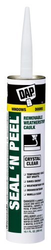 Dap 18354 Seal 'N Peel Removable Caulk, 10.1-Ounce