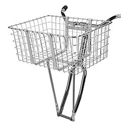 Wald 157 Front Giant Delivery Bicycle Basket (21 X 15 X 9, Black) front-790722