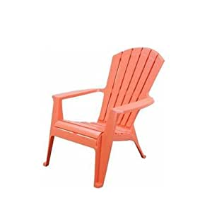 Adam?s Mfg. Corp 8370-06-3700 Coral Ergo Adirondack Stacking Chair, Orange
