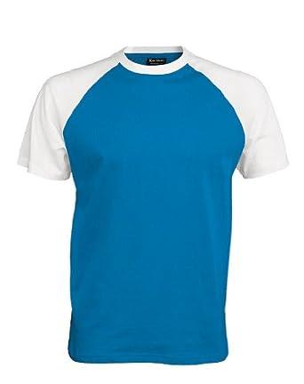 Baseball T-Shirt, Größe:S;Farbe:Aqua Blue/White