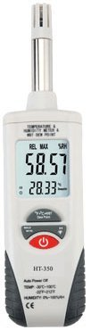 Ambient Weather WS-HT350 Fast Response Air Thermo-Hygrometer with Wet Bulb Psychrometer, Dew Point Meter - 1