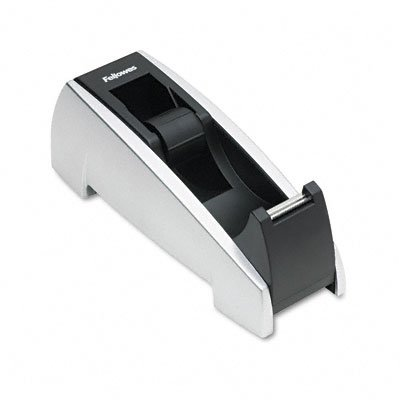Buy Office suites tape dispenser, weighted base, black/silver